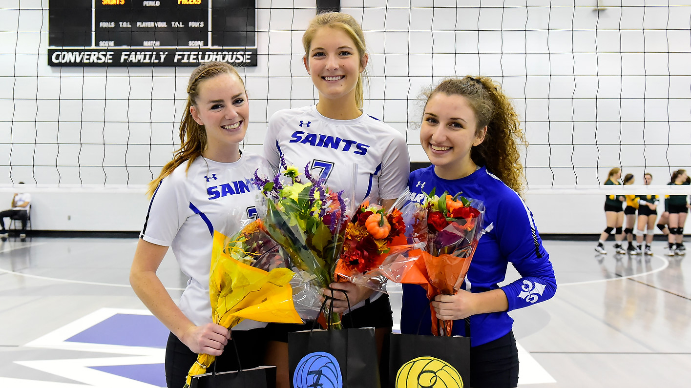 Saints Roll To Two Victories On Senior Day