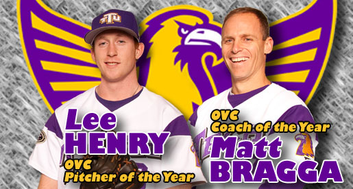 Henry, Bragga earn top honors; Five Golden Eagles named on all-OVC teams