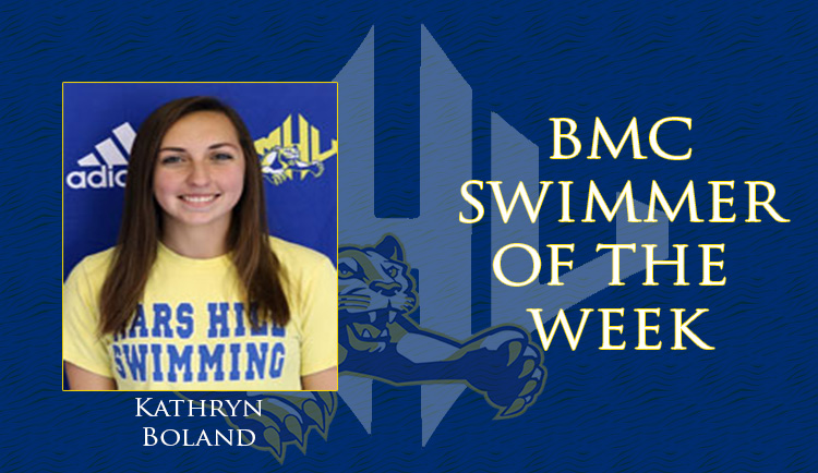 Boland named BGMC Swimmer of the Week