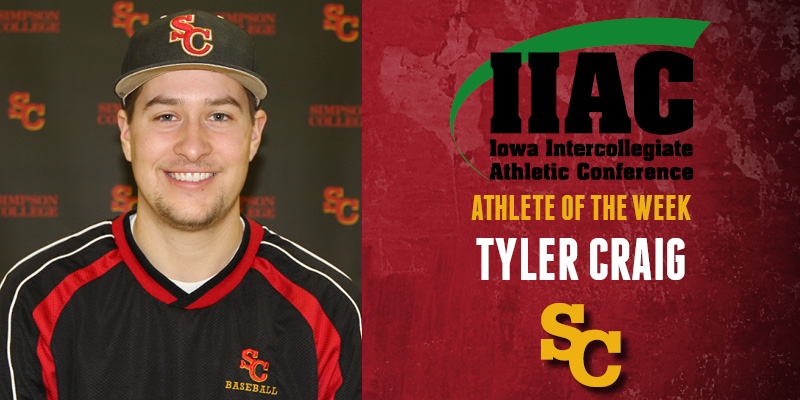Craig named IIAC Athlete of the Week