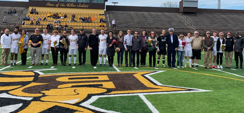 2019 BW men's soccer seniors and parents