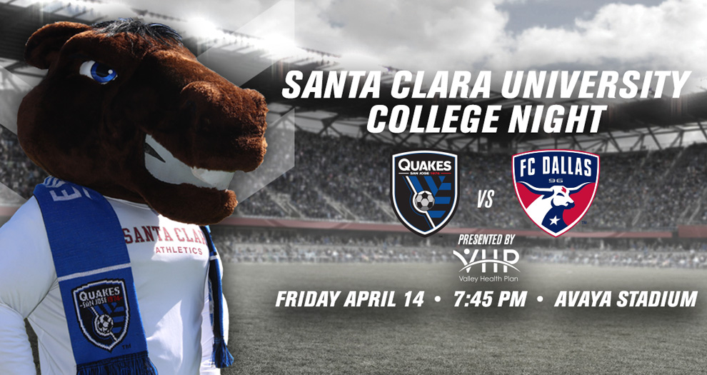 College Night with the San Jose Earthquakes Set for April 14