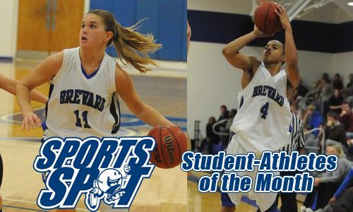Samantha Winn and Josh Roper are named Student-Athlete of the Month for January