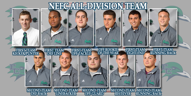 Offensive Rookie of the Year Mrozek leads 11 Gulls on NEFC All-Division Team