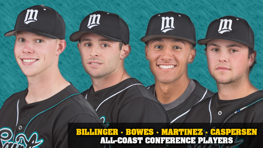 All-Conference players Blake Billinger (1st), Mike Bowes (1st), Jake Martinez (1st) and Connor Caspersen (2nd team).