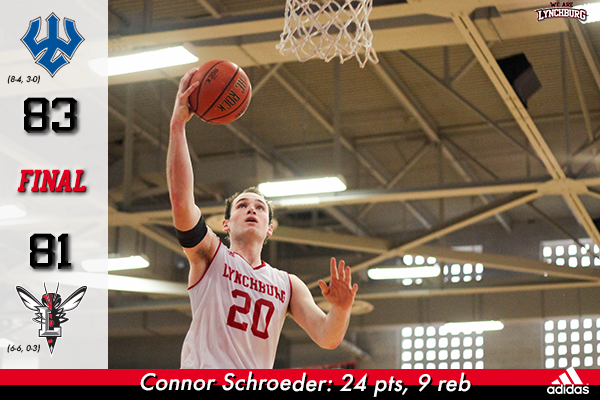 Conner Schroeder going up for a layup.