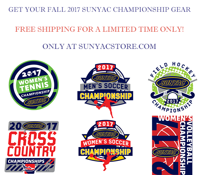 Limited time: Free shipping 2017 SUNYAC championship gear
