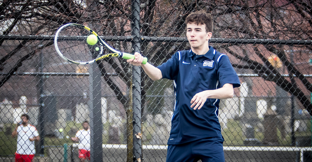 Smalley Rallies in Singles But Men's Tennis Downed by Mount Saint Mary