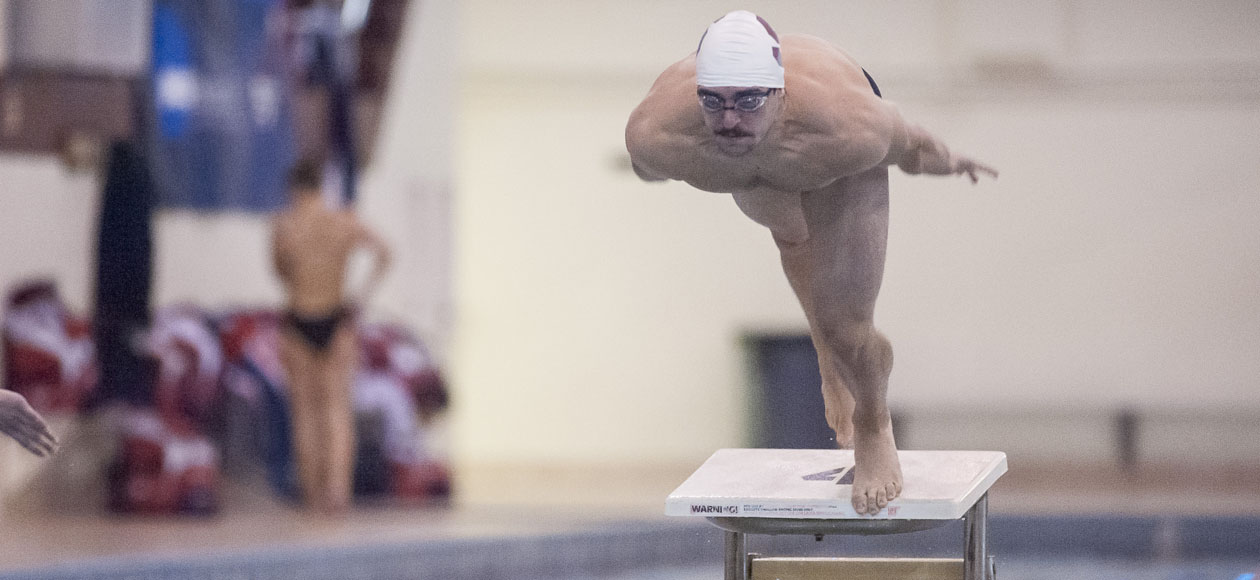 Amherst Bests Men's Swimming and Diving, 144-115