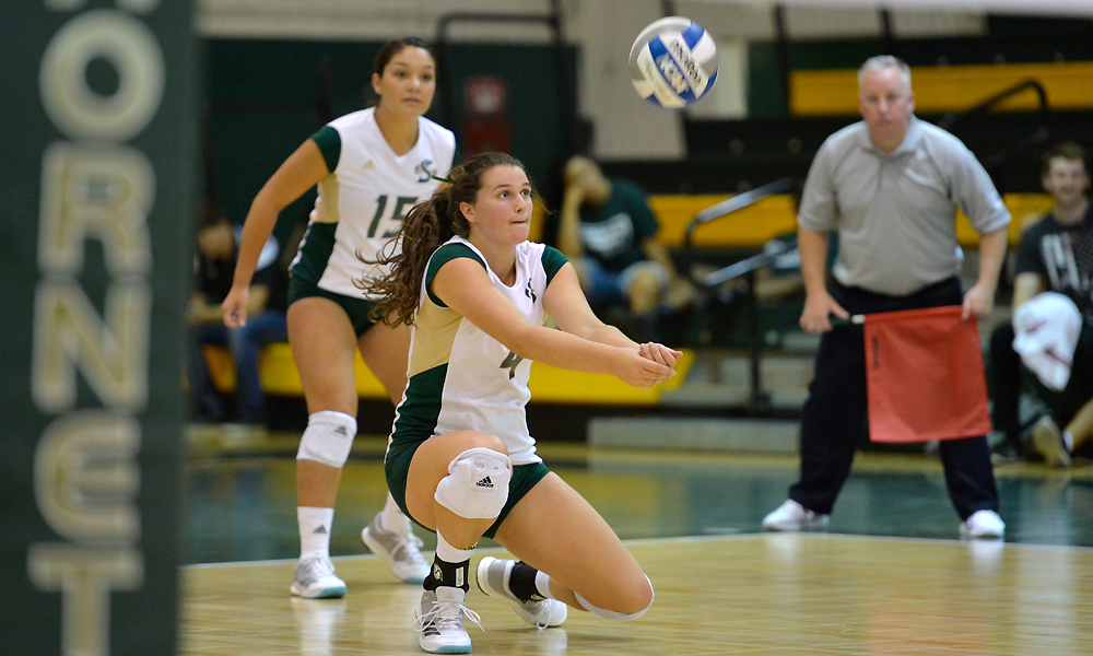 VOLLEYBALL FALLS IN HOME OPENER TO PACIFIC, 3-1