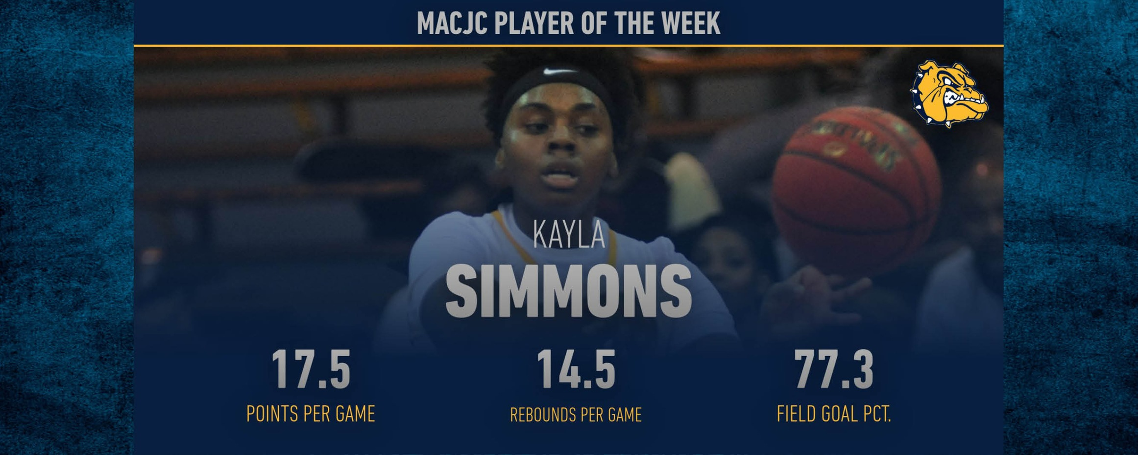 Simmons named MACJC Player of the Week