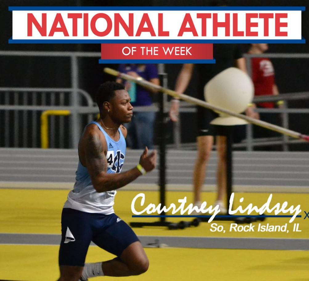 Lindsey named national athlete of the week