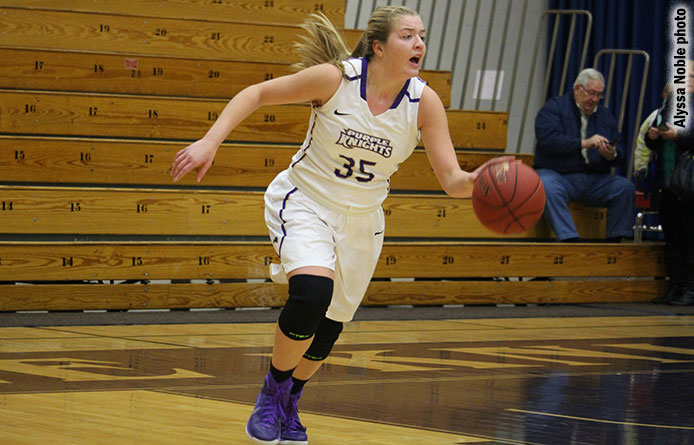 Women's basketball holds off Post's rally in 65-60 victory