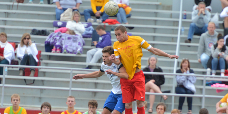 Late goals lift No. 17 Luther over Simpson