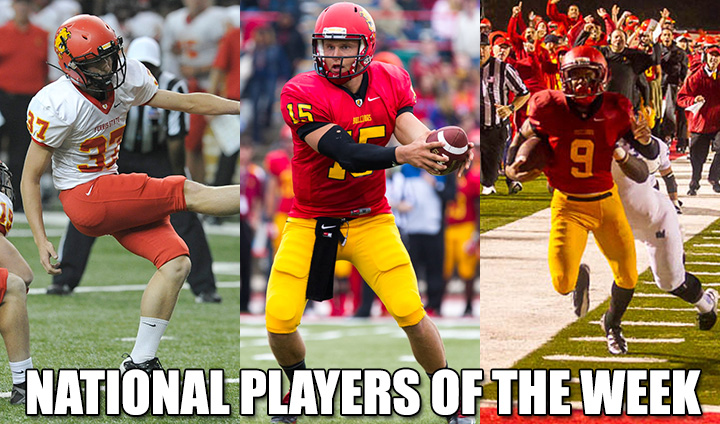 Three Ferris State Football Players Claim National Player Of Week Accolades After Anchor-Bone Win