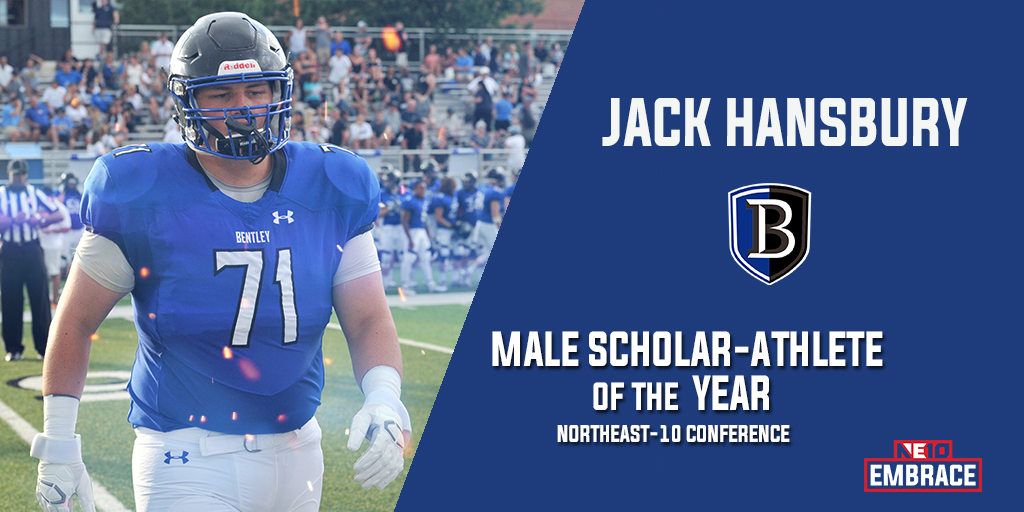Embrace the Learning: Bentley's Jack Hansbury Captures NE10 Male Scholar-Athlete of the Year