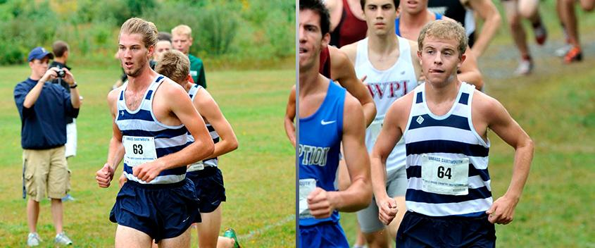 Mik Kren '13 and Alex Kramer '13 were the team's second and third finishers in their final collegiate cross country meet (photos by Sportspix.biz)