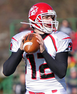 Albright quarterback Tanner Kelly