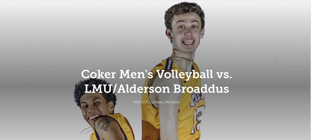 Men's Volleyball Back in Action at Home Against Lincoln Memorial and Alderson Broaddus