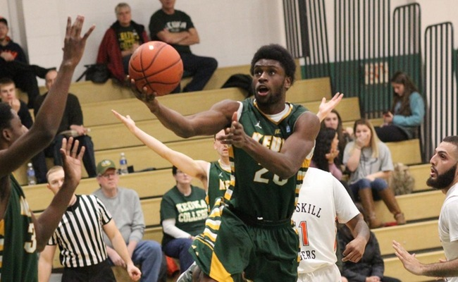 Trevor Powell (20) led Keuka College with 17 points on Sunday -- Photo by Ed Webber