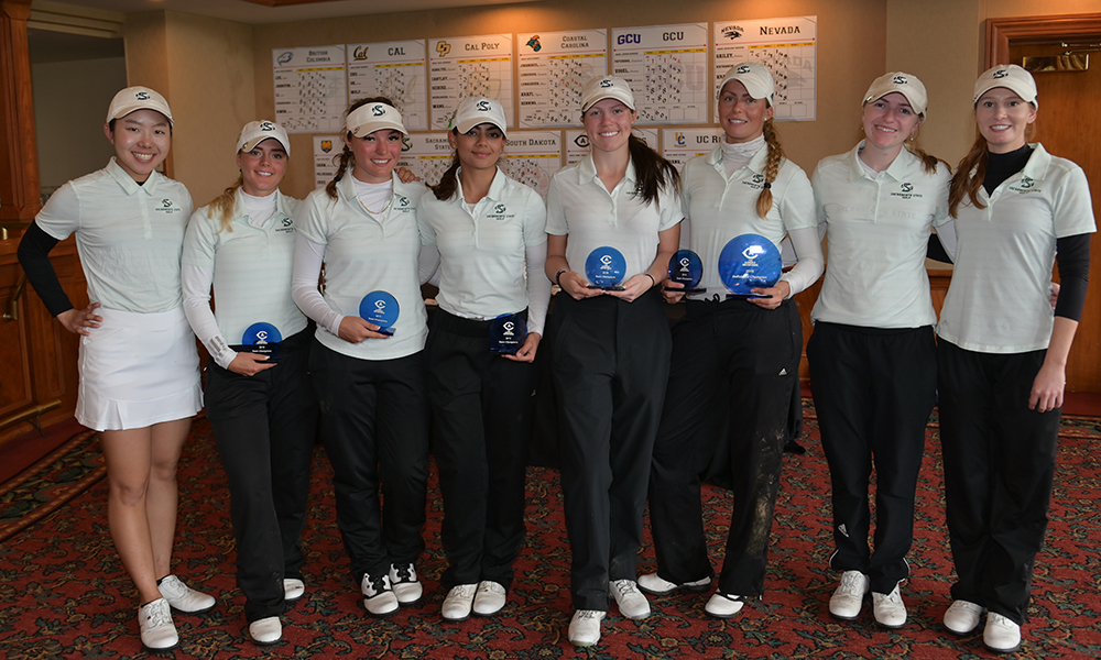 WOMEN'S GOLF FINISHES FIRST; VIDEN SETS SCHOOL RECORD TO CLAIM MEDALIST