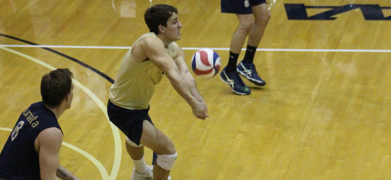 Chris Heron led the defense with 11 digs.