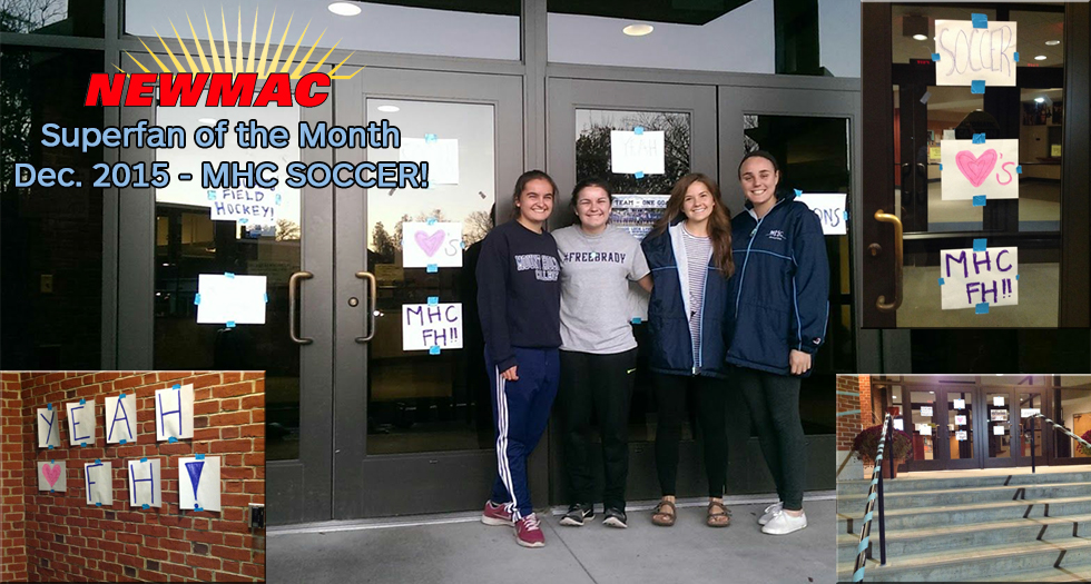 Soccer Honored As NEWMAC Superfan of the Month for December