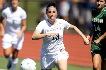 Vallone hat trick leads No. 18 Brandeis women past Case, 5-1, in UAA opener