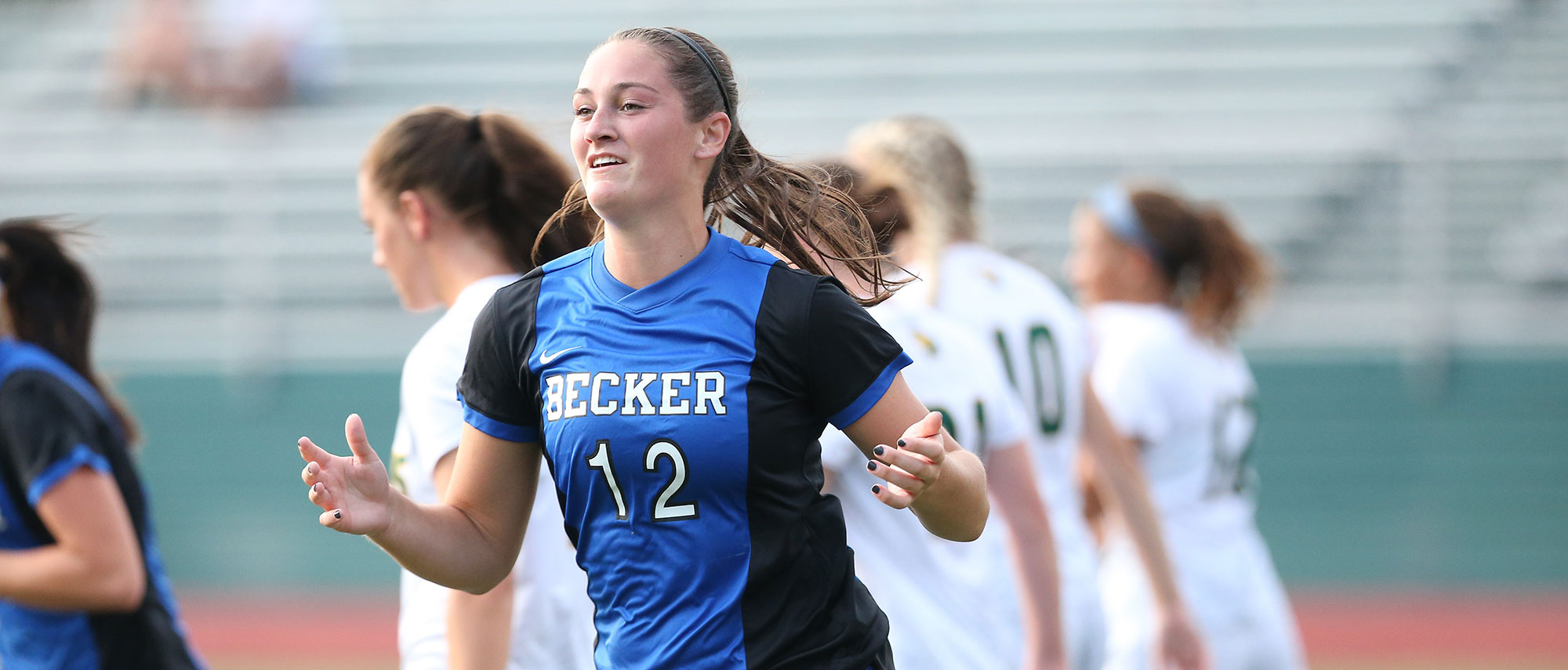 In the 11th minute of the opening frame, Becker junior Ciara McKissick (Charlton, Mass.) redirected a corner kick off the foot of senior Maria Colon (Wharton, NJ), who had placed the pass deep to the far post.