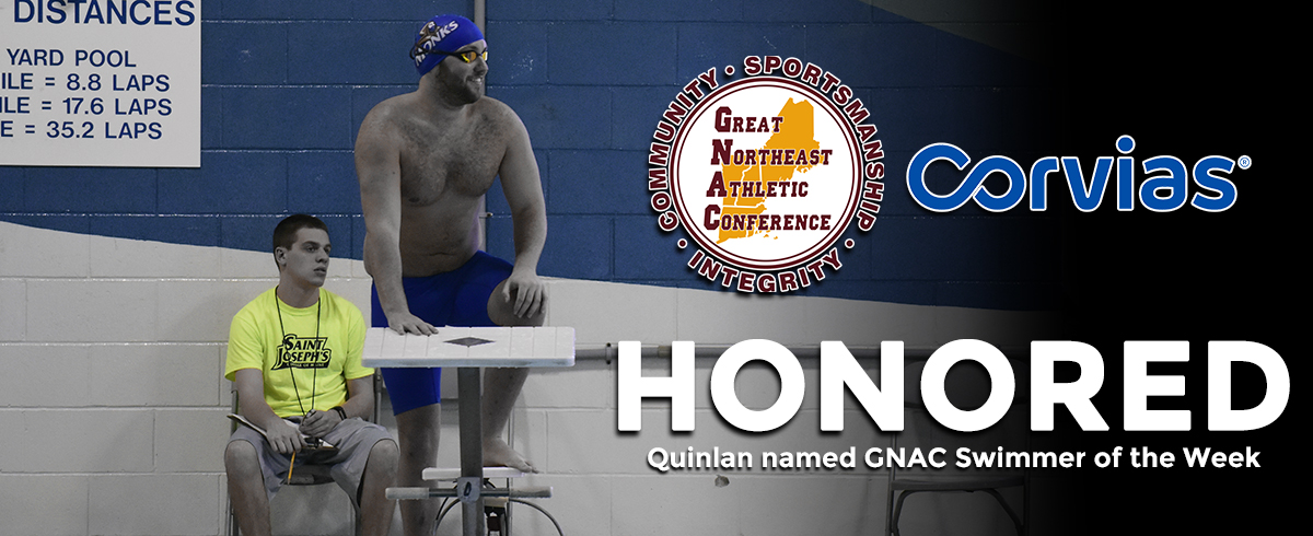 Quinlan Named GNAC Swimmer of the Week