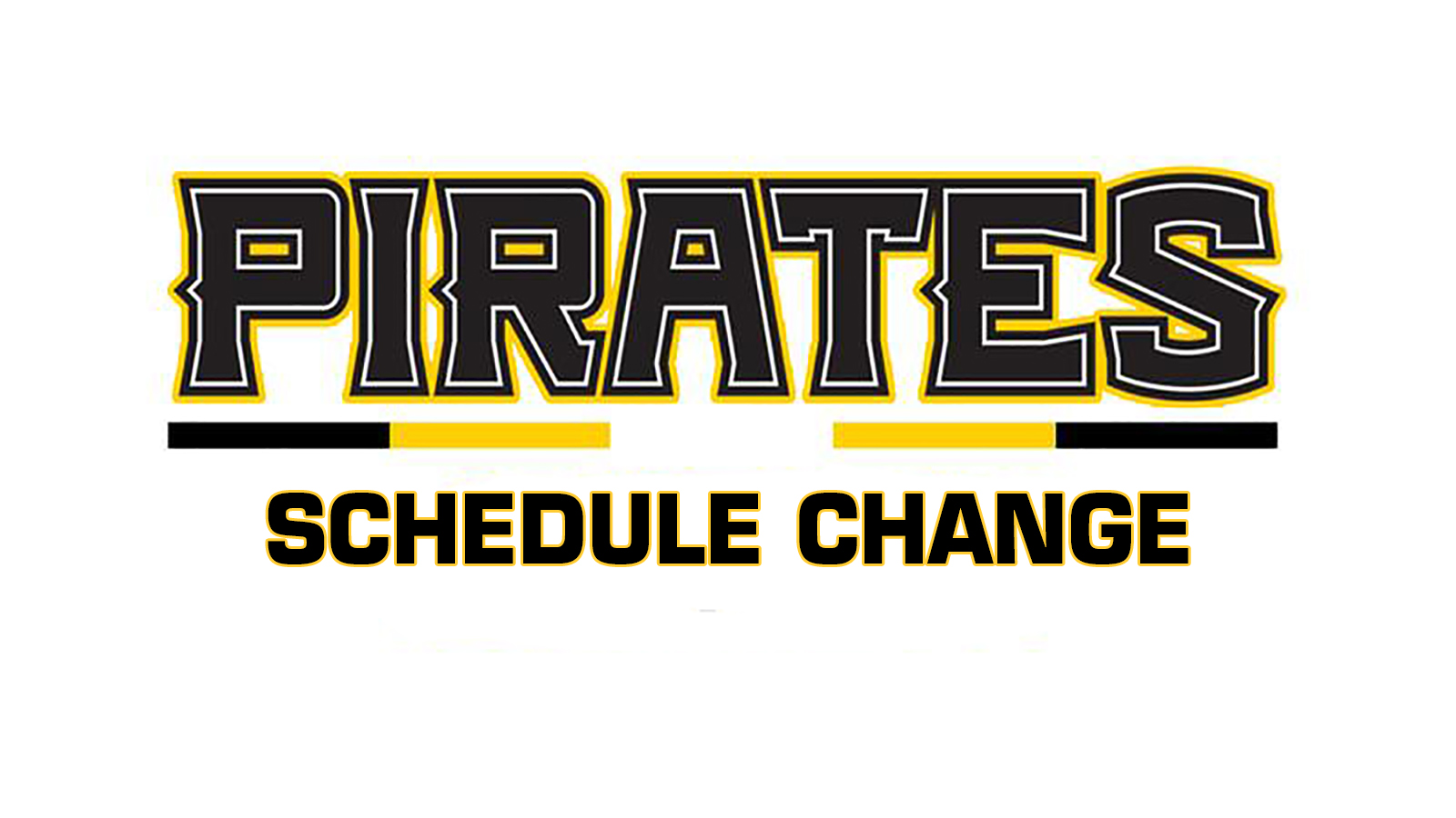 Schedule Changes for Baseball this week