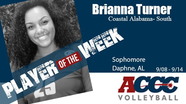 Brianna Turner Named ACCC Volleyball Player of the Week