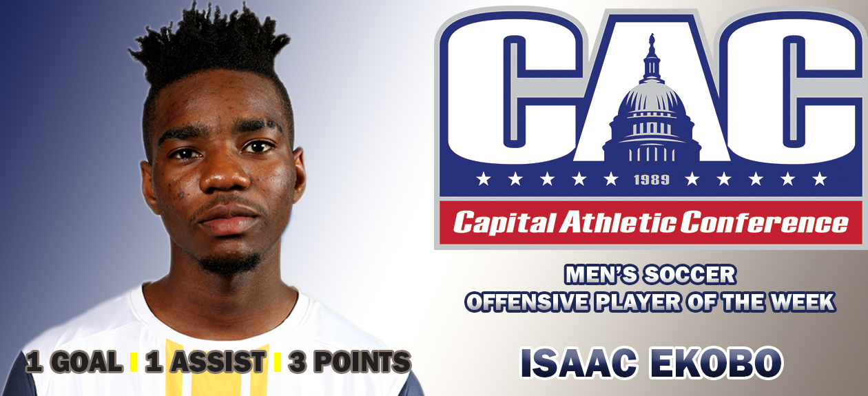 Isaac Ekobo nabs CAC Offensive Player of the Week for Sept. 11
