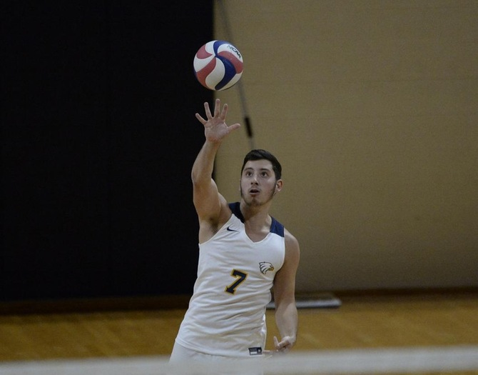 Men's Volleyball Drops Non-Conference Contest to Elms
