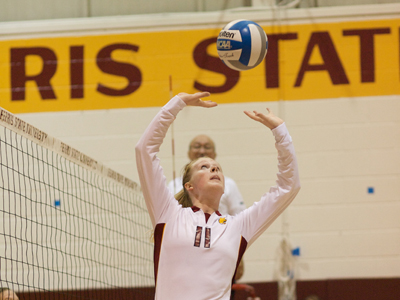 Ferris Volleyball Garners Sweep At Lake Superior State