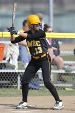 Angela Yannone hit two homeruns against St. Peter's on Saturday