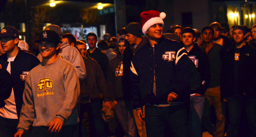 Athletics spreads holiday cheer in Cookeville Christmas Parade