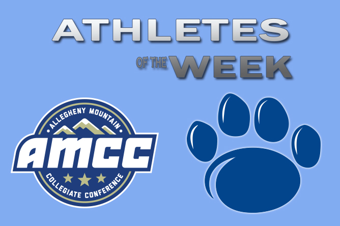 Three Earn AMCC Athlete of the Week