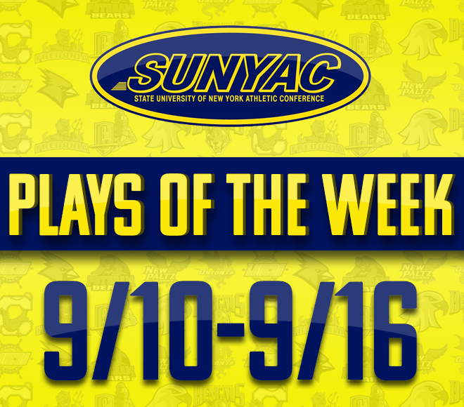 2018 SUNYAC Fall Plays of the Week - Sept. 10-16