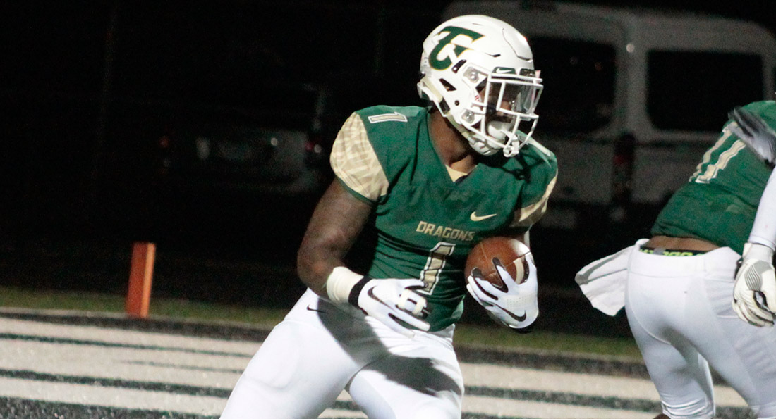 Kyle Brunson had a superb night at Wayne State, rushing for 143 yards in Tiffin's 27-13 win.