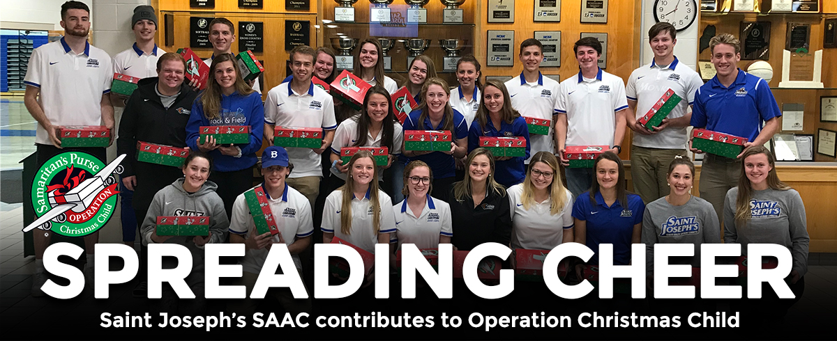 Saint Joseph's SAAC Contributes to Operation Christmas Child