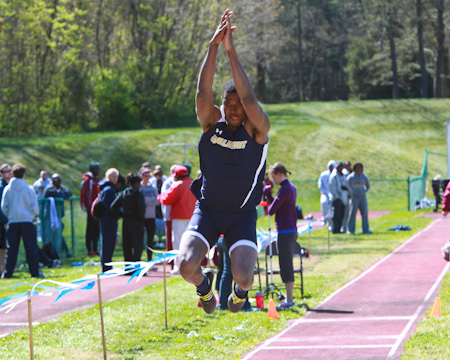 Gallaudet's Flowers places second in the triple jump at ECAC championships