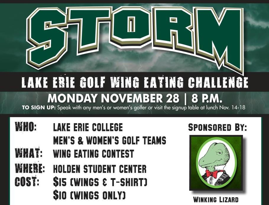 Golf Teams To Host Wing Eating Contest