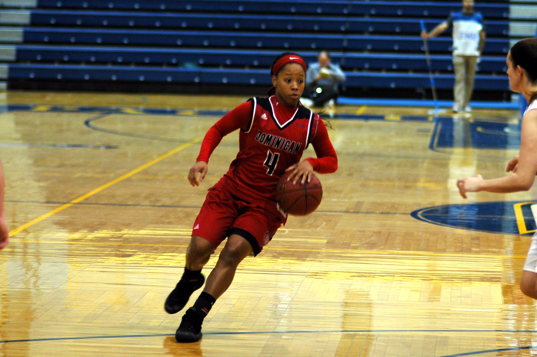Freshman Kyla Ramseur who netted a career high 13 points tonight