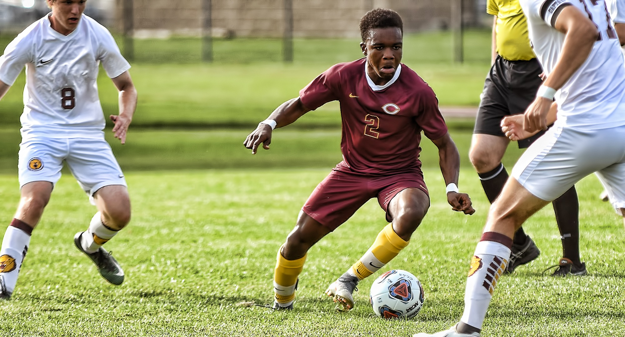 Freshman Patrick Smith scored his first collegiate goal in the Cobbers' game at Bethel.