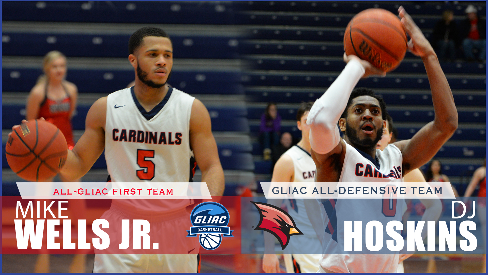 Wells, Hoskins Earn 2017-18 All-GLIAC Accolades