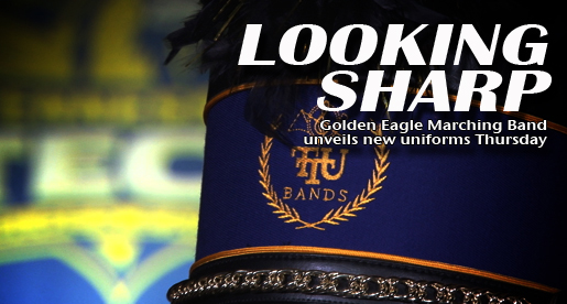 New uniforms on display Thursday night....for the Golden Eagle Marching Band!