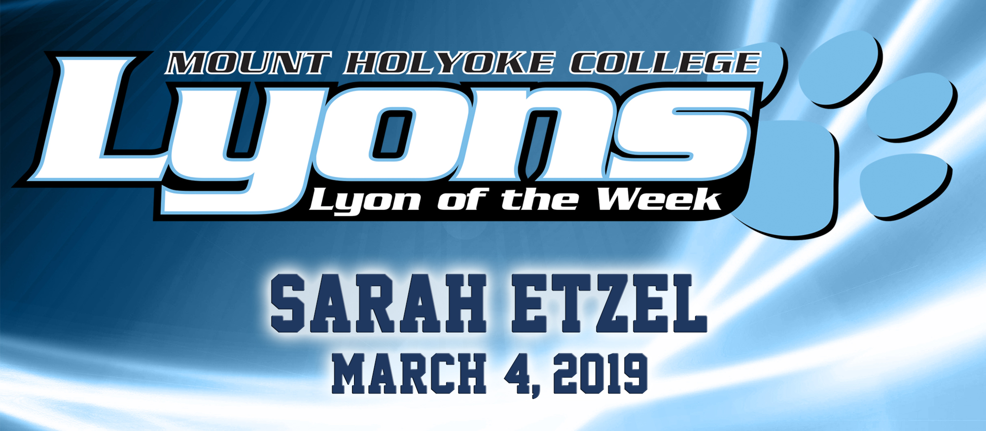Photo for the Lyon of the Week for March 4, 2019, Riding's Sarah Etzel.