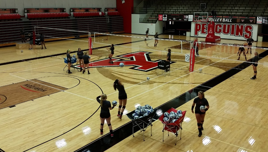 The YSU volleyball team began practice on Aug. 9.