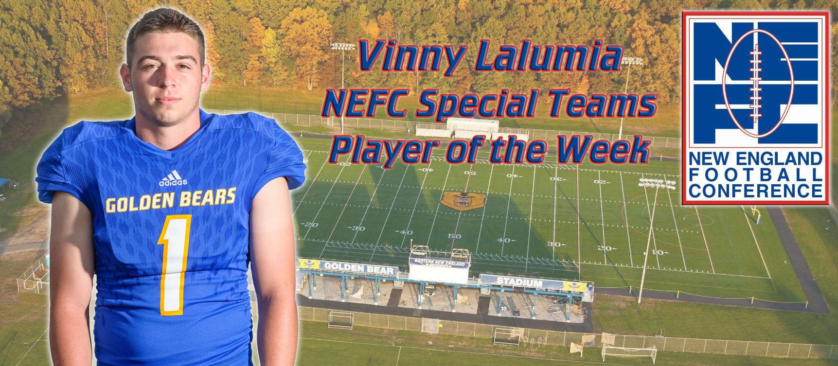 Vinny Lalumia Named NEFC Special Teams Player of the Week